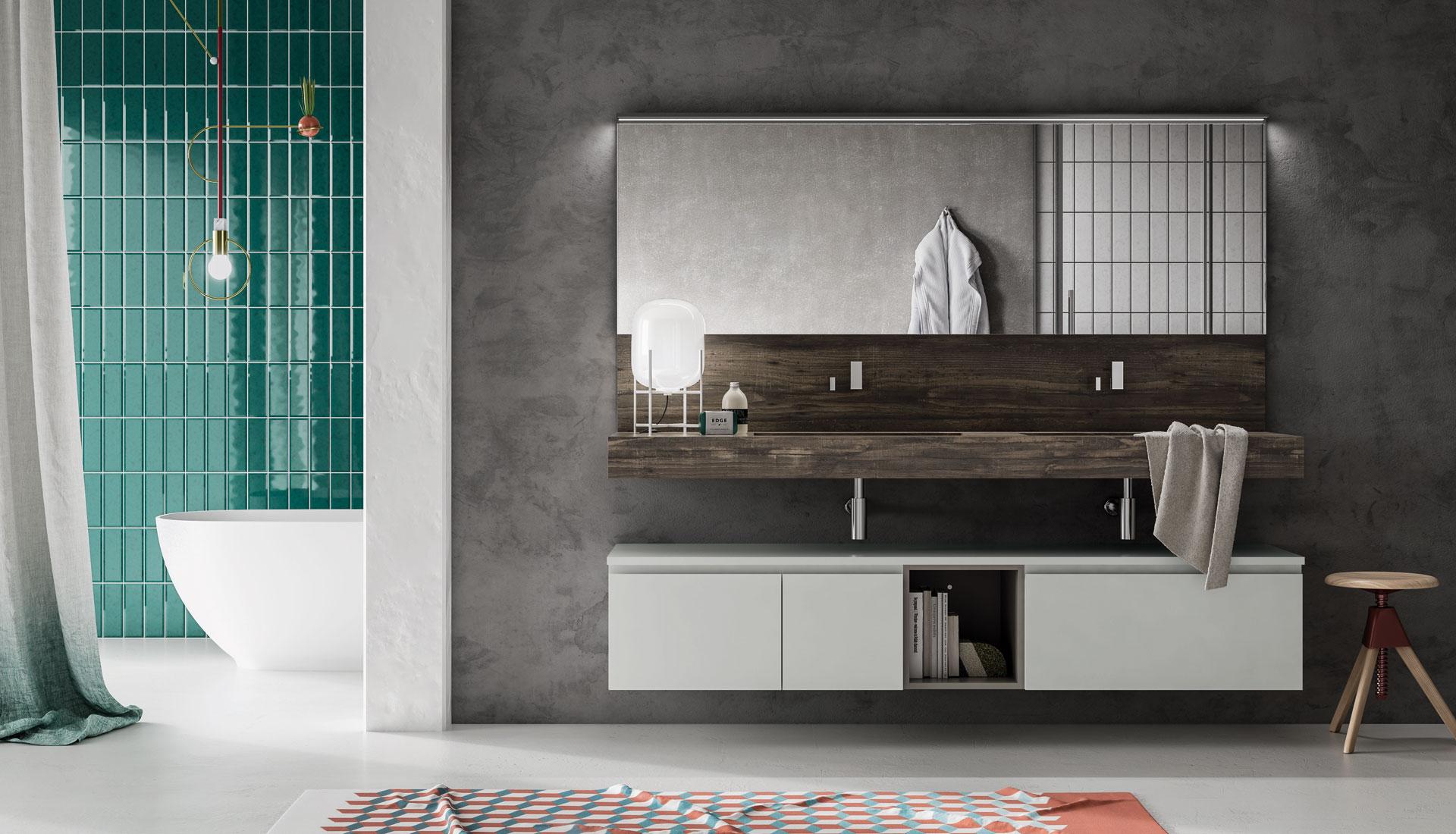 Forme e colori mobili bagno
